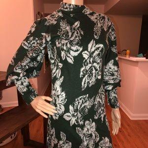Free People Floral Mock-Neck Sweater Dress